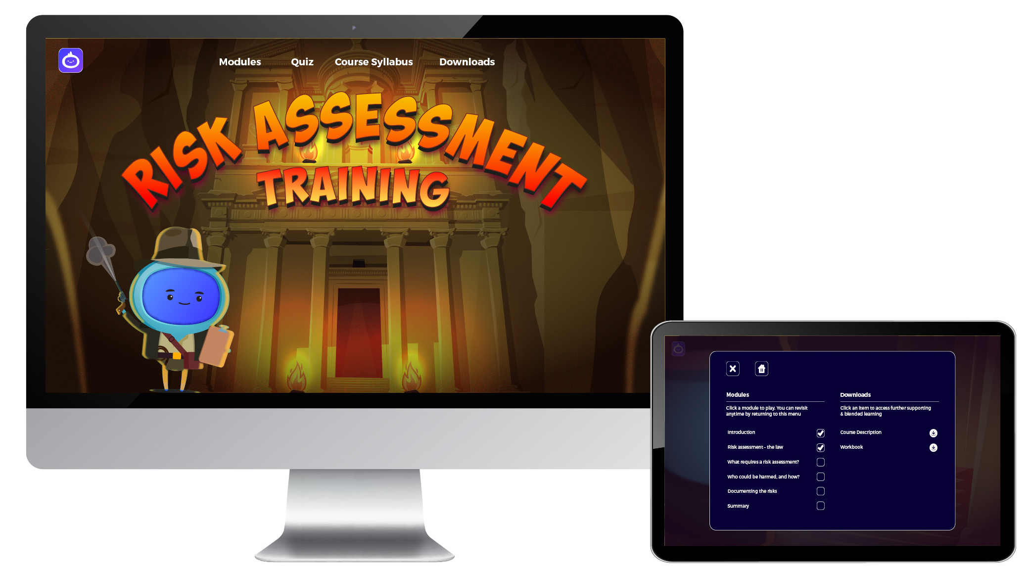 iMAC - Risk Assesment Training - Landing Page